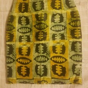 Dresses & Skirts - African Hand made print pencil skirt.